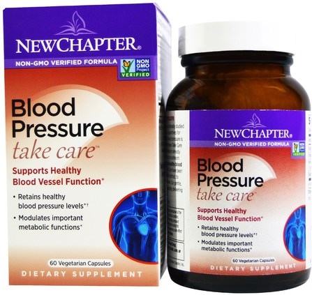 Blood Pressure Take Care, 60 Vegetarian Capsules by New Chapter, 健康,血壓 HK 香港