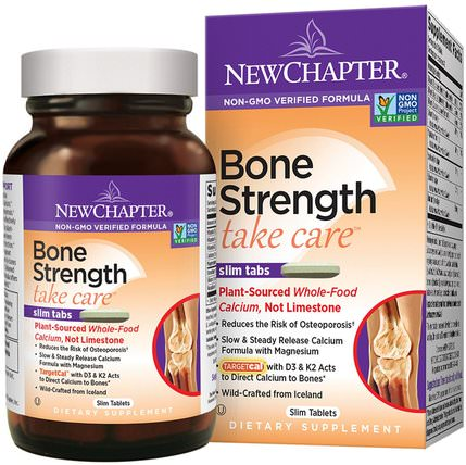 Bone Strength Take Care, 120 Slim Tablets by New Chapter, 健康,骨骼,骨質疏鬆症 HK 香港