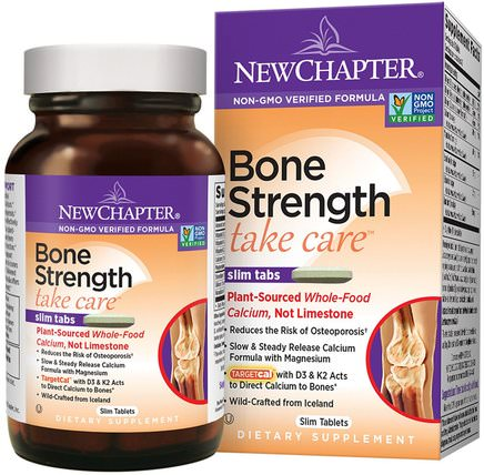 Bone Strength Take Care, 60 Slim Tablets by New Chapter, 健康,骨骼,骨質疏鬆症 HK 香港