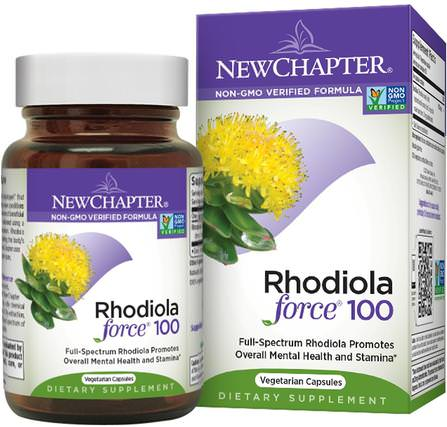 Rhodiola Force 100, 30 Veggie Caps by New Chapter, 草藥,紅景天,適應原 HK 香港