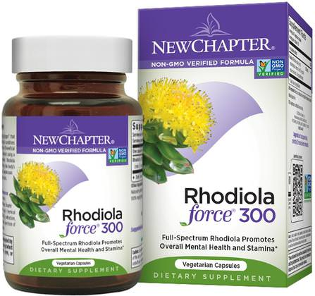 Rhodiola Force 300, 30 Veggie Caps by New Chapter, 草藥,紅景天,適應原 HK 香港