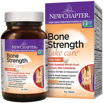Bone Strength Take Care, 240 Tiny Tablets by New Chapter, 健康,骨骼,骨質疏鬆症 HK 香港