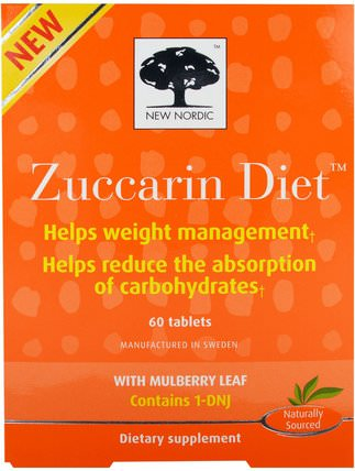 Zuccarin Diet, 60 Tablets by New Nordic US Inc, 健康,血糖 HK 香港