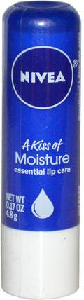 A Kiss of Moisture, Essential Lip Care, 0.17 oz (4.8 g) by Nivea, 洗澡,美容,唇部護理 HK 香港