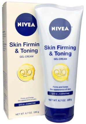 Q10 Plus, Skin Firming & Toning Gel-Cream, 6.7 oz (189 g) by Nivea, 沐浴,美容,潤膚露,皮膚,橘皮組織 HK 香港