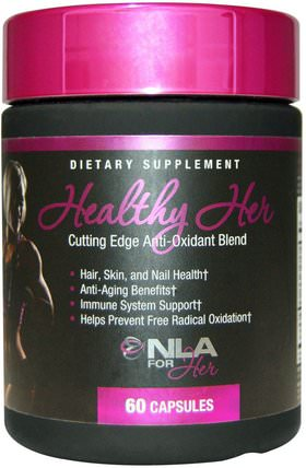 Healthy Her, Cutting Edge Anti-Oxidant Blend, 60 Capsules by NLA for Her, 運動,女性運動產品,抗氧化劑,抗氧化劑 HK 香港