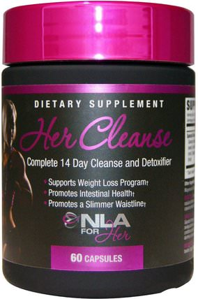 Her Cleanse, Complete 14 Day Cleanse and Detoxifier, 60 Capsules by NLA for Her, 運動,女性運動產品,排毒 HK 香港