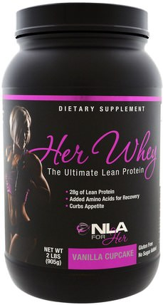 Her Whey, Ultimate Lean Protein, Vanilla Cupcake, 2 lbs (905 g) by NLA for Her, 運動,女子運動產品 HK 香港