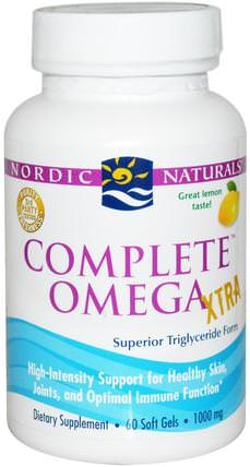 Complete Omega Xtra, Lemon, 1000 mg, 60 Soft Gels by Nordic Naturals, 健康 HK 香港