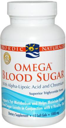 Omega Blood Sugar, 1000 mg, 60 Soft Gels by Nordic Naturals, 健康,血糖 HK 香港
