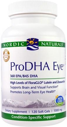 Nordic Naturals Professional, ProDHA Eye, 1000 mg, 120 Softgels 健康,眼部護理,視力保健,北歐自然專業