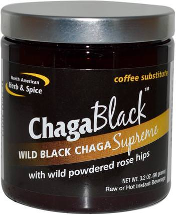 ChagaBlack, Coffee Substitute, 3.2 oz (90 g) by North American Herb & Spice Co., 補充劑,藥用蘑菇,chaga蘑菇,蘑菇粉 HK 香港