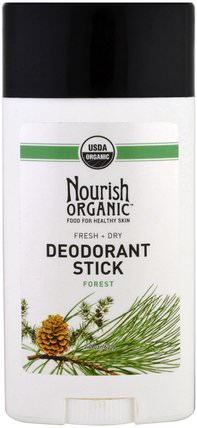 Fresh & Dry, Forest, 2.2 oz (62 g) by Nourish Organic Organic Deodorant Stick, 洗澡,美容,除臭劑 HK 香港