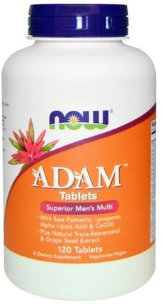 ADAM, Superior Mens Multi, 120 Tablets by Now Foods, 維生素,男性多種維生素 HK 香港