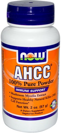 AHCC, Pure Powder, 2 oz (57 g) by Now Foods, 補充劑,藥用蘑菇,ahcc,蘑菇粉 HK 香港