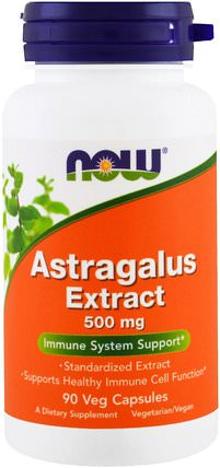 Astragalus Extract, 500 mg, 90 Veggie Caps by Now Foods, 健康,感冒和病毒,黃芪 HK 香港