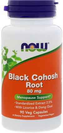 Black Cohosh Root, 80 mg, 90 Veg Capsules by Now Foods, 健康,女性,黑升麻,黑升麻更年期,東.. HK 香港