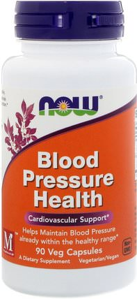 Blood Pressure Health, 90 Veg Capsules by Now Foods, 健康,血壓 HK 香港