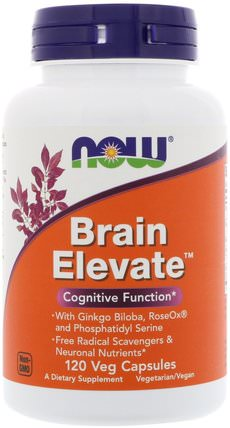 Brain Elevate, 120 Veg Capsules by Now Foods, 健康,注意力缺陷障礙,添加,adhd,腦 HK 香港