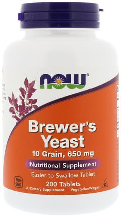 Brewers Yeast, 200 Tablets by Now Foods, 補充劑,啤酒酵母補充劑 HK 香港