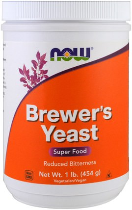 Brewers Yeast, Superfood, 1 lb (454 g) by Now Foods, 食品,烘焙助劑,啤酒酵母,健康 HK 香港