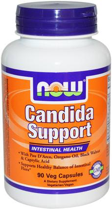 Candida Support, 90 Veg Capsules by Now Foods, 補充劑,辛酸,排毒 HK 香港