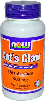 Cats Claw, 500 mg, 100 Veg Capsules by Now Foods, 草藥,貓爪(ua de gato) HK 香港