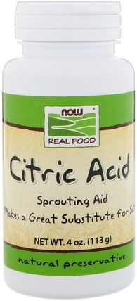 Citric Acid, 4 oz (113 g) by Now Foods, 補充劑,檸檬酸 HK 香港