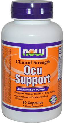 Clinical Strength Ocu Support, 90 Veg Capsules by Now Foods, 健康,眼保健,視力保健,視力 HK 香港