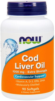 Cod Liver Oil, 1.000 mg, 90 Softgels by Now Foods, 補充劑,efa omega 3 6 9(epa dha),魚肝油,魚肝油軟膠囊 HK 香港