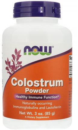 Colostrum Powder, 3 oz (85 g) by Now Foods, 補充劑,乳鐵蛋白,牛製品,初乳 HK 香港