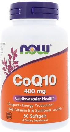 CoQ10, 400 mg, 60 Softgels by Now Foods, 補充劑,輔酶q10,coq10 400毫克 HK 香港