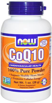 CoQ10, Pure Powder, 1 oz (28 g) by Now Foods, 補充劑,輔酶q10 HK 香港