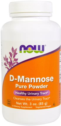 D-Mannose Pure Powder, 3 oz (85 g) by Now Foods, 補充劑,d-甘露糖 HK 香港