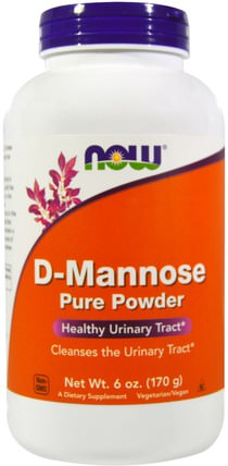 D-Mannose Pure Powder, 6 oz (170 g) by Now Foods, 補充劑,d-甘露糖 HK 香港