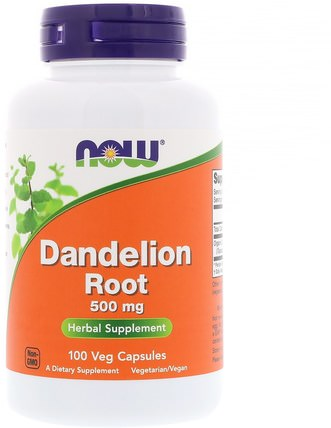 Dandelion Root, 500 mg, 100 Veg Capsules by Now Foods, 草藥,蒲公英根 HK 香港