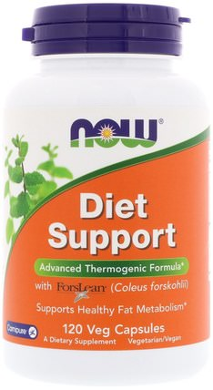 Diet Support, 120 Veg Capsules by Now Foods, 草藥,錦紫蘇forskohlii,健康 HK 香港
