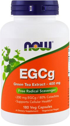 EGCg, Green Tea Extract, 400 mg, 180 Veg Capsules by Now Foods, 補充劑,抗氧化劑,egcg HK 香港