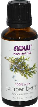 Essential Oils, Juniper Berry, 1 fl oz (30 ml) by Now Foods, 沐浴,美容,香薰精油,杜松油 HK 香港