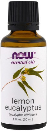Essential Oils, Lemon Eucalyptus, 1 fl oz (30 ml) by Now Foods, 沐浴,美容,香薰精油 HK 香港