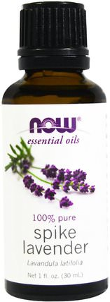 Essential Oils, Spike Lavender, 1 fl oz (30 ml) by Now Foods, 沐浴,美容,香薰精油,薰衣草精油 HK 香港