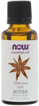 Essential Oils, Star Anise, 1 fl oz (30 ml) by Now Foods, 沐浴,美容,香薰精油,茴香油 HK 香港