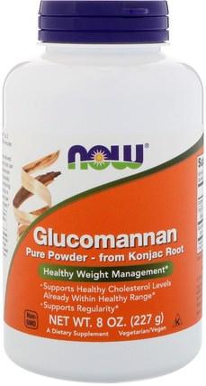 Glucomannan, Pure Powder, 8 oz (227 g) by Now Foods, 補品,纖維,葡甘聚醣(魔芋根),健康,便秘 HK 香港