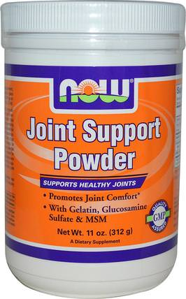 Joint Support Powder, 11 oz (312 g) by Now Foods, 補充劑,氨基葡萄糖軟骨素,健康,骨骼,骨質疏鬆症,關節健康 HK 香港