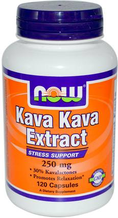 Kava Kava Extract, 250 mg, 120 Veg Capsules by Now Foods, 草藥,卡瓦卡瓦,健康,焦慮 HK 香港