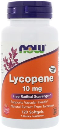 Lycopene, 10 mg, 120 Softgels by Now Foods, 補充劑,抗氧化劑,番茄紅素 HK 香港