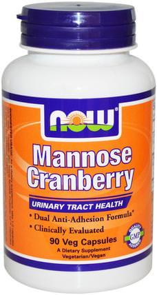 Mannose Cranberry, 90 Veg Capsules by Now Foods, 補品,d-甘露糖,蔓越莓 HK 香港
