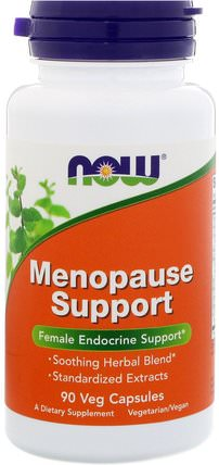 Menopause Support, 90 Veg Capsules by Now Foods, 健康,女性,更年期 HK 香港