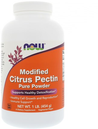 Modified Citrus Pectin, Pure Powder, 1 lb (454 g) by Now Foods, 補充劑,纖維,柑橘果膠改性 HK 香港