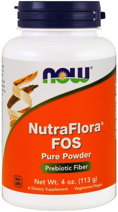 NutraFlora FOS, Pure Powder, 4 oz (113 g) by Now Foods, 補充劑,益生菌,腹瀉 HK 香港